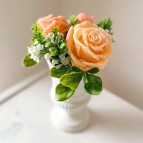IN STOCK, Vase Stella XS, 3 flowers, coral