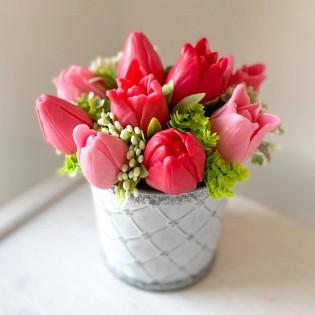 IN STOCK, soap bucket 11 flowers, tulips 3