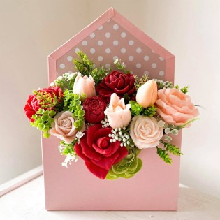 IN STOCK, Box 11 flowers envelope , mix 2