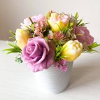 IN STOCK, Bucket with 7 soap flowers, mix 1