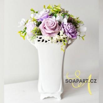 Vase Lili, 11 soap flowers