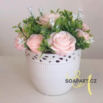Vase Jana, 11 soap flowers