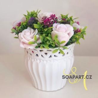 Vase Alena, 7 soap flowers